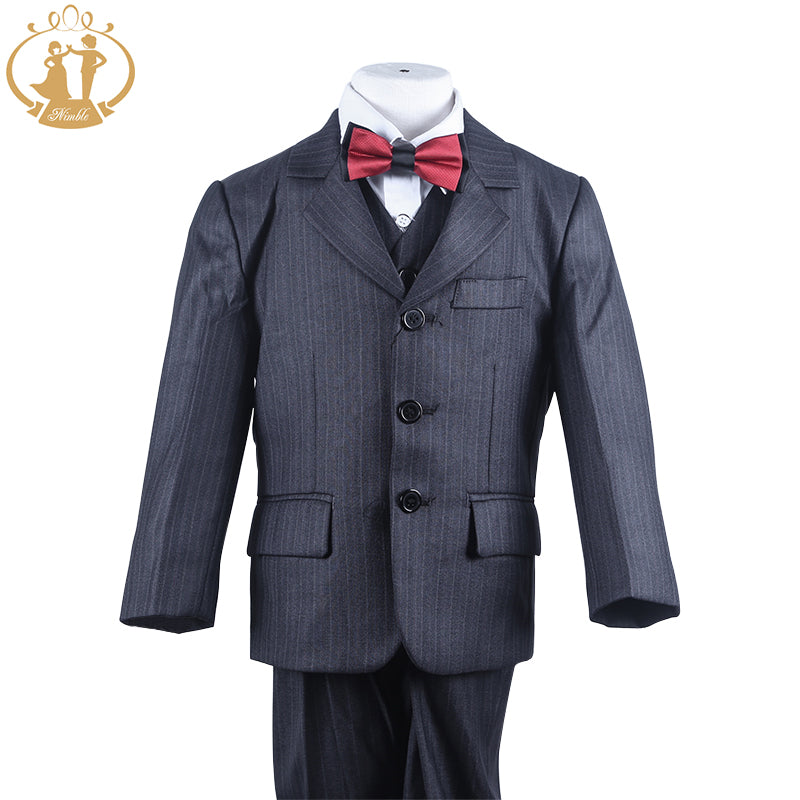 6a77d917f Nimble suit for boy Polyester Single Breasted Boys Pinstripe Suit ...