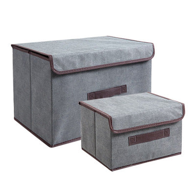 Non Woven Fabric Folding Storage Box Covered Clothes Storage Box Household  Cloth Art Childrenu0026#39;s Toys Packing Box 2 Piece Set U2013 Beal | Daily Deals  For ...