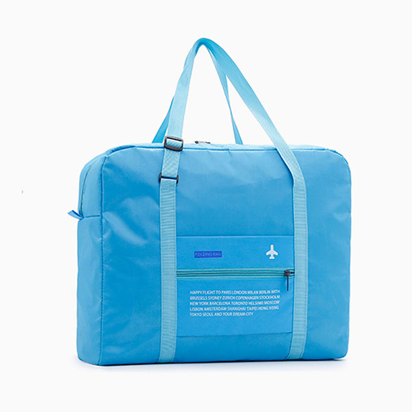 Nylon WaterProof Travel Bag Large Capacity Women Folding Double Zipper Handbag Unisex Men Luggage Travel Handbags Wholesale