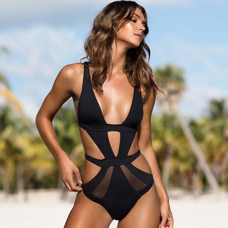 58be051f62 One Piece Swimsuit 2018 Women Sexy Swimsuit Swimwear Lace Solid Bathin –  Beal | Daily Deals For Moms
