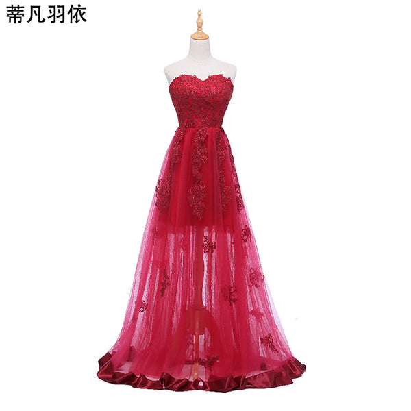 Original Real Photo Evening Dresses Sexy Illusion Floor Length Robe De Soiree Sweetheart Sleeveless