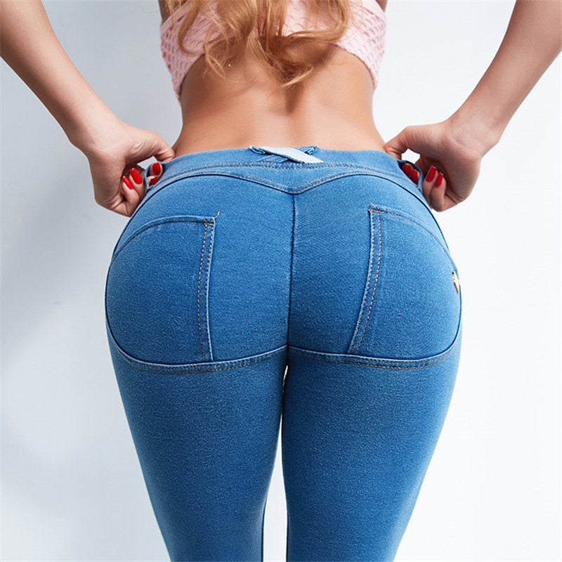 Oyoo Women Butt Lift Ruched Yoga Pants Low Waist Booty Leggings Skinny Workout Tights -2689