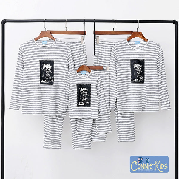Pajamas Christmas Family Matching Pajamas 100% Cotton 2018 Autumn Winter Family Clothing Mommy