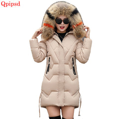 bcd3096d992 Plus size 3XL Winter Jackets 2018 New Down Parkas Women Thicken Warm Hooded  Wadded Jackets Womens