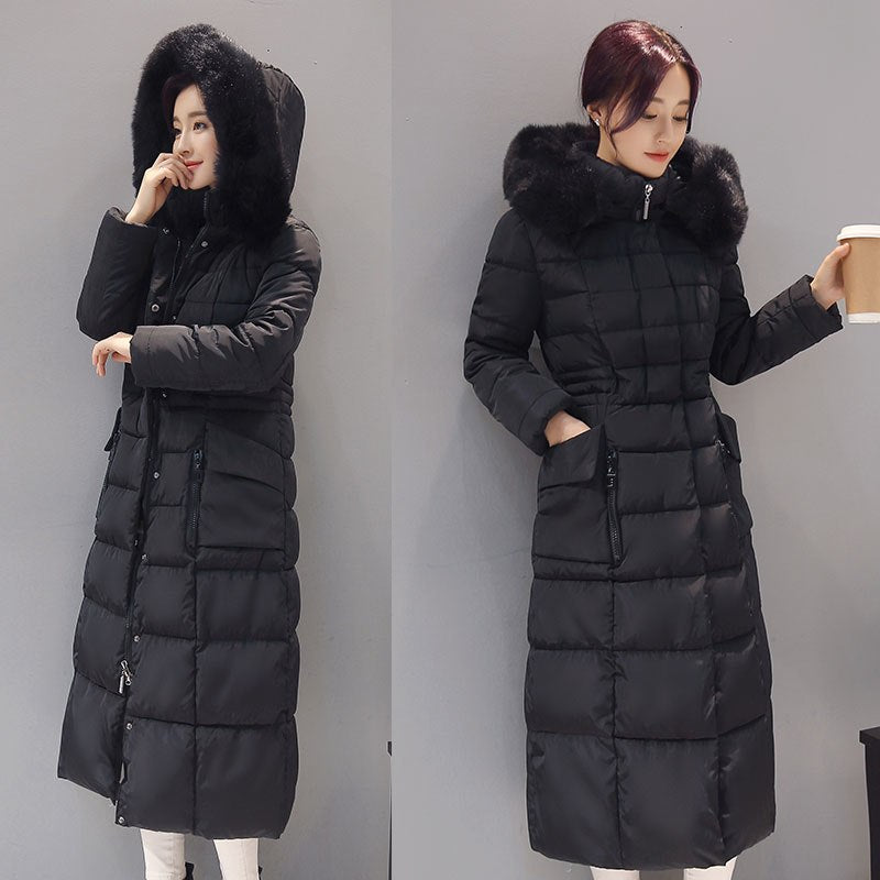 4fa0900b4 Plus size 5XL Womens long down parkas 2018 winter hooded down jacket coat  women thicken warm
