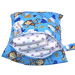 [Pororo] 20*25CM Single Pocket Wet bag, baby cloth diaper bag, waterproof reusable nappy bags
