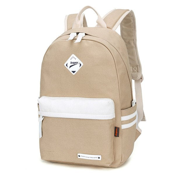 Preppy Style Fashion Women Canvas Solid School Bag Brand Travel Black  Backpack For Girls Teenagers 9ac5f147b8