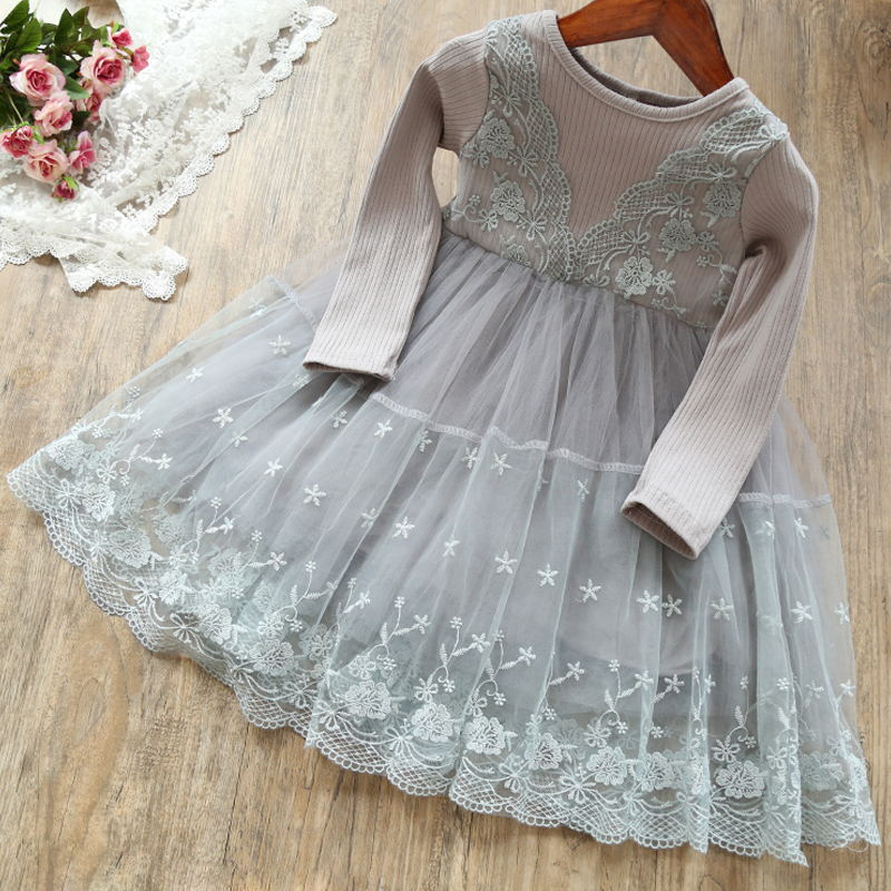 2597f6b75d65 Princess Girls Dress 2 3 6 Year Children Long Sleeve Winter Autumn ...