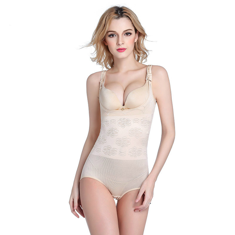 d78be09e02f QWEEK Bodysuit Women Body Shaper Corset Slimming Corrective ...