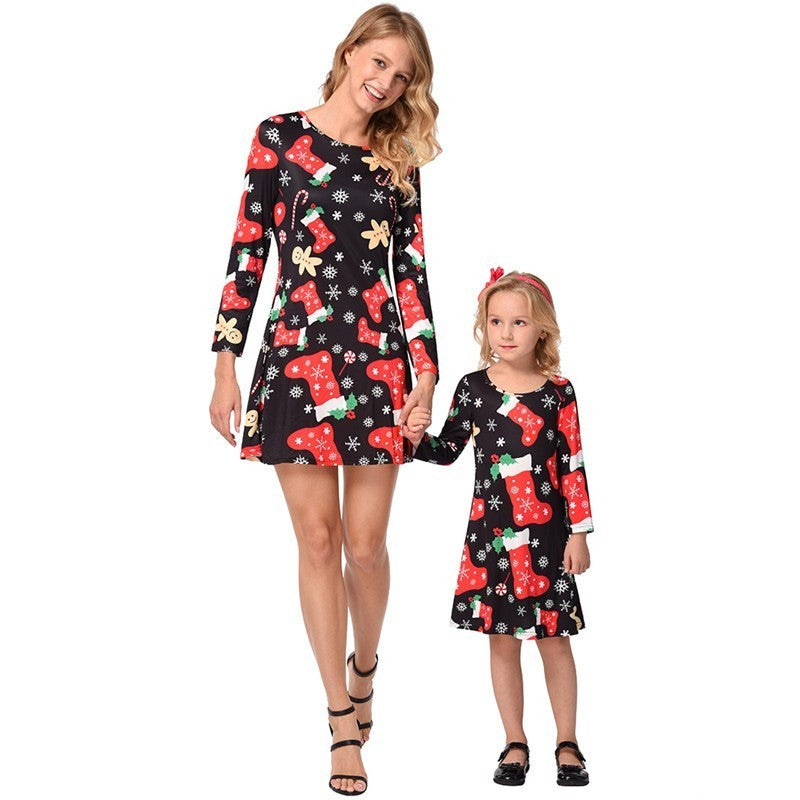 74fbf13c051d2 Ruiyige 2018 Christmas Dress Mother Daughter Matching Clothes Winter ...