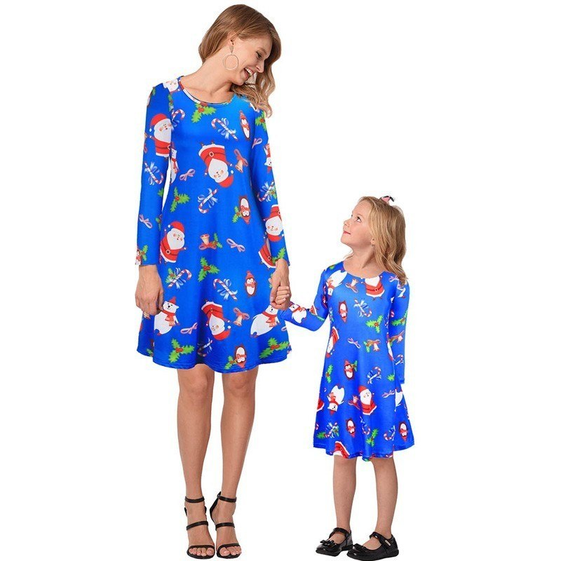 69bedd8be088 Ruiyige 2018 Mother-Daughter Christmas Dress Autumn Women Girls Long Sleeve Christmas  Party Dresses Vestido Mommy Kids Clothes – Beal | Daily Deals For Moms