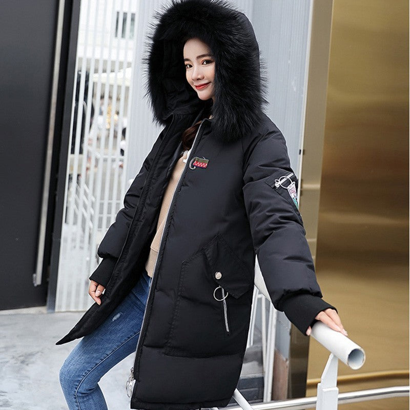 33da418a333 Ruiyige 2018 New Winter Jacket Coat Women Long Thick Warm Parka Fur ...