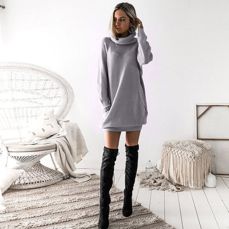 29bd84e4ee8 Ruiyige New Sexy Mini Autumn Dress Women Fashion Long Sleeve Solid Party Sweater  Dresses Casual Club Loose Female Vestido 2018 – Beal