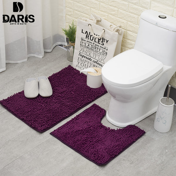 SDARISB Soft Floor Mat Shaggy Carpet Rug Entrance Chenille Bathroom Absorbing Carpet Bathroom Mat