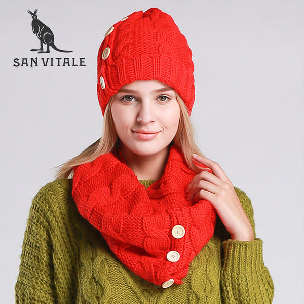 Scarves Women'S Scarf Cotton Wool Casual Fashion Clothing Accessories Apparel Winter Warm Luxury Brand scarf Hat & Glove Sets