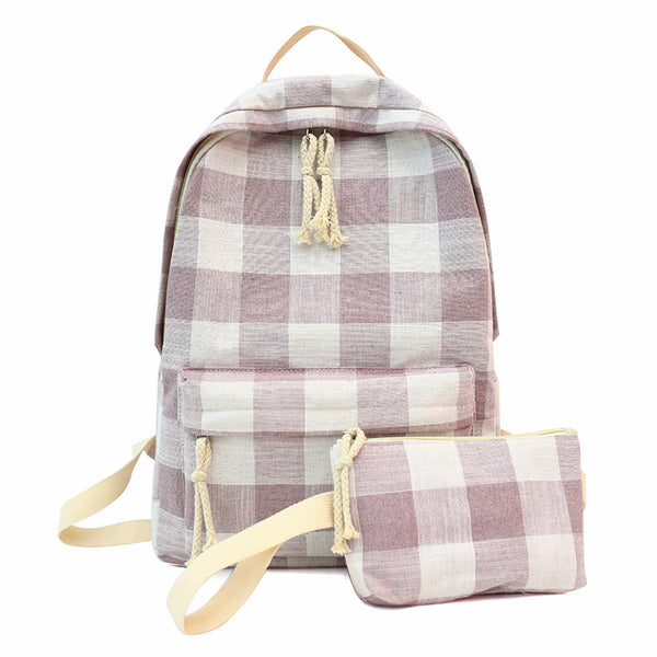School Backpack Bags For Teenage Girls Backpack Women Bagpack 2 pieces Sets Female Bolsa Escolar