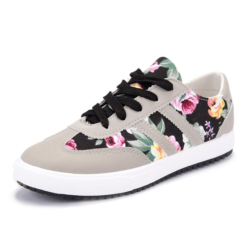Shoes woman 2018 New arrivals printed women canvas shoes breathable ... 3ac8b799679f