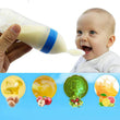 Silicone Baby Feeding Bottle with Spoon Infant Training Spoon Squeeze Feeding Training Feeder  pp mamadeira-- MKL001 PT49