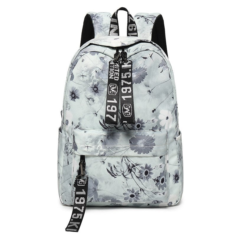 2df82d7cf2 Simple Vintage Chinese Style Women Canvas Backpack Flower Printing ...