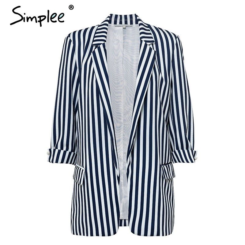 6eeba532ae1 Simplee Slim blazers suit cardigans Women formal jackets office work ...