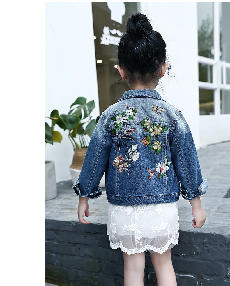 0fe829a34 Spring Autumn Girls Denim Jackets Child Jean Jacket Baby Girls Flowers –  Beal | Daily Deals For Moms