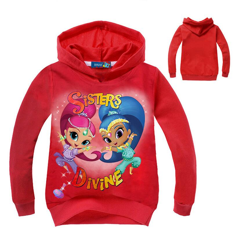 5ca508d97d6e4 Spring Girls T-shirt Children Shimmer and Shine baby Girl Long ...