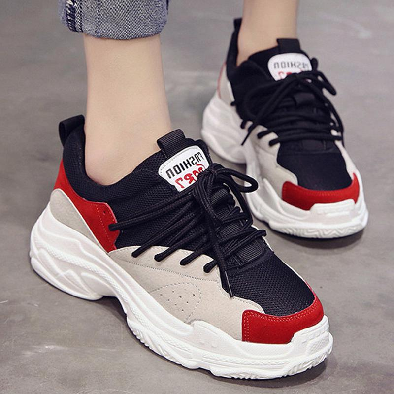 92371e48a15f Spring New Designer Wedges Black Platform Sneakers Women Shoes 2018 ...