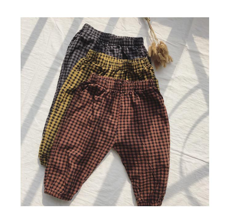 15289ede1 Spring summer new style boys and girls Korean style plaid pants casual kids  children wide leg pants fashion trousers 2-6Y – Beal | Daily Deals For Moms