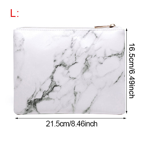 7bc0a74c3e6b Square Women  39 s Travel Makeup Organizer Marble Pattern Cosmetic ...