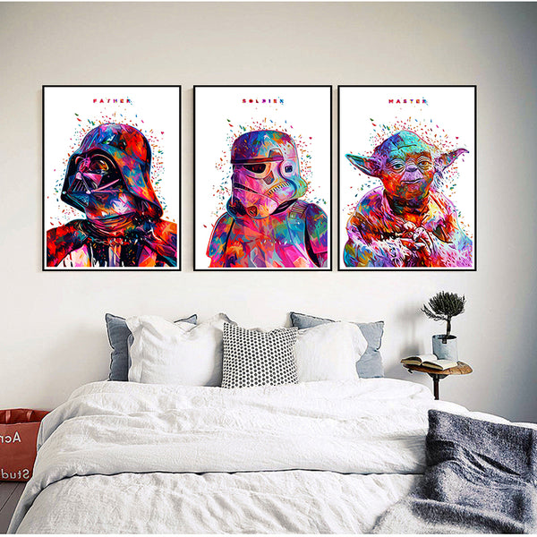 Star wars movie Coated paper Poster wall sticker Bar Cafe living room Wall stickers 42*30cm