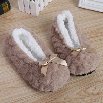 9f98a6003a3c Suihyung New Fashion Women Winter Shoes Plush Home Slippers Faux Fur Soft  Bottom Bedroom Floor