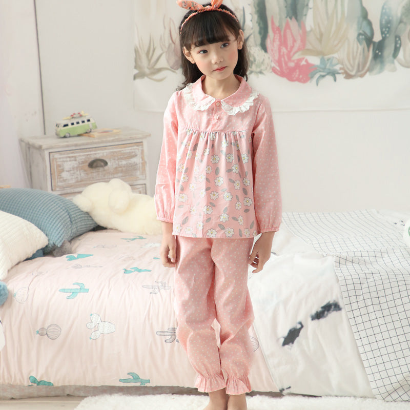 407885061f Summer Baby Girls Pajamas Clothing Sets Cotton Full Sleeve Children ...