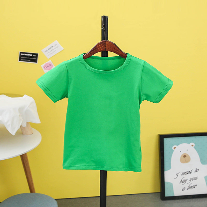 e6ccc2f8b Summer Children T-shirt 2018 Solid Color Girls Shirts 2-8T Tops For Boys  Cotton Kids Tees School Toddler Outerwear – Beal | Daily Deals For Moms