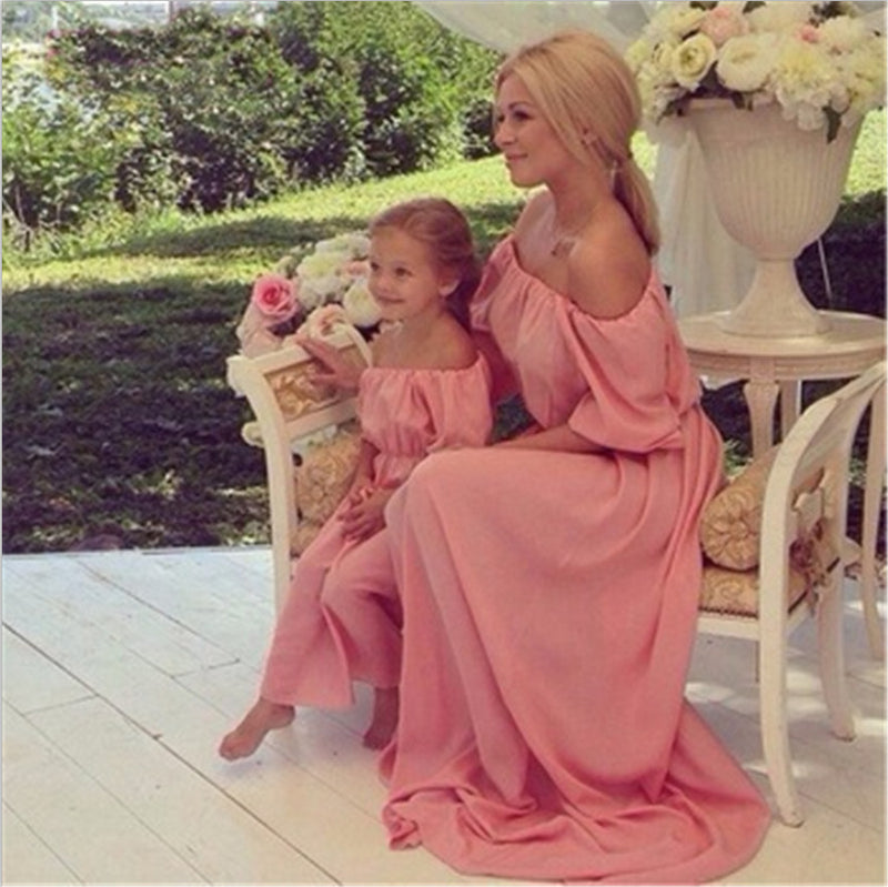 c62f12b535 Summer Family Matching Clothes Outfits Maxi Strapless Mother Daughter –  Beal   Daily Deals For Moms