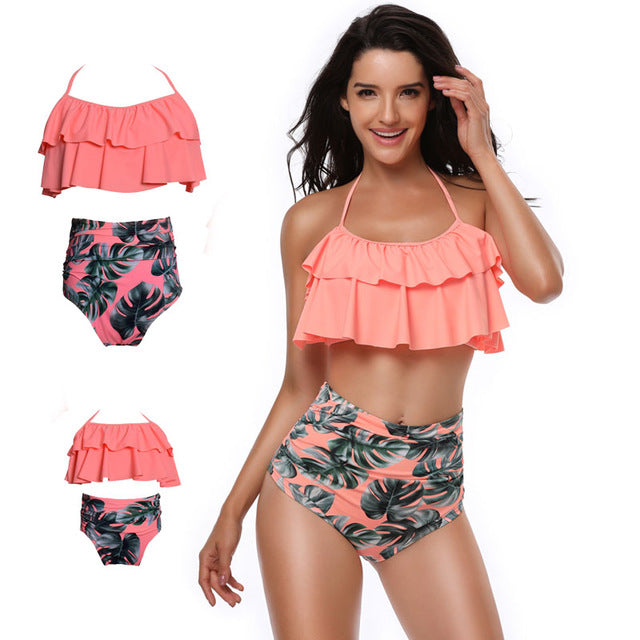 2e034f168e5 Summer Fashion Family Matching Outfits Mother Daughter Bikini Set ...