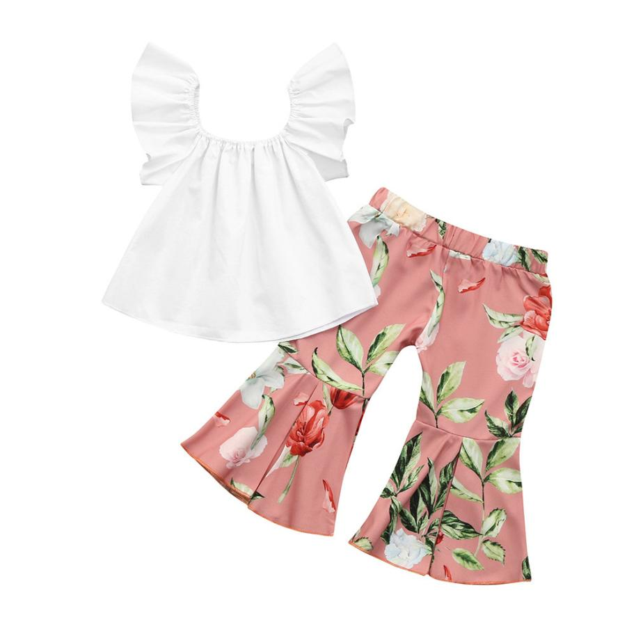 9f70cb4fd60f2 Summer Toddler Baby Girls Outfits Clothes 2Pcs Toddler Baby Kids ...