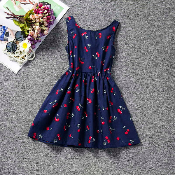 Sundress Baby Girl Halter Dress Children's Girl Clothing Printed Kids Dresses For Girls Party