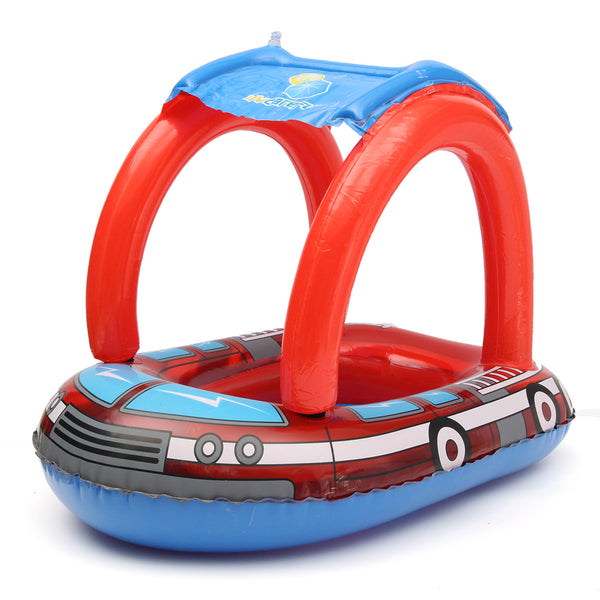 Sunshade Baby Child Infant Swimming Float Inflatable Thicken PVC Mother-son Interactive Lap Baby Swimming Ring Pool Accessories