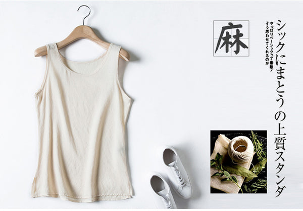 TOTNWANG 2017 New Summer Vest Sleeveless Linen Cotton Loose Women Tanks Soft O Neck Comfortable Vest Hot Top Casual Tank Tops
