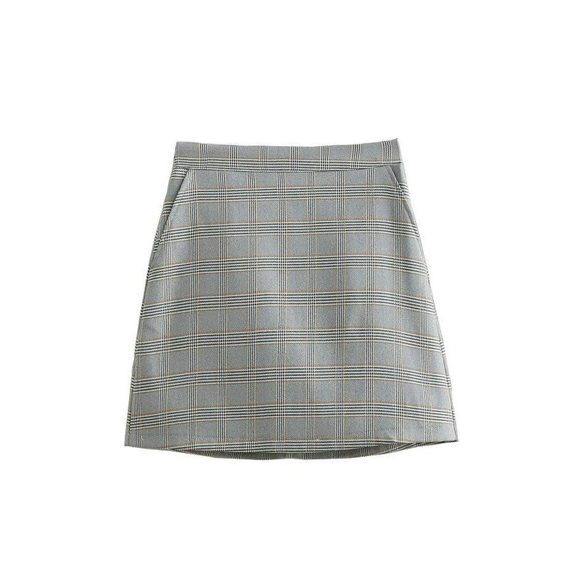 8437a24589 Tangada women plaid skirt faldas mujer elegant pocket lady mini skirt korea  fashion 2019 vintage skirts BE422 – Beal | Daily Deals For Moms