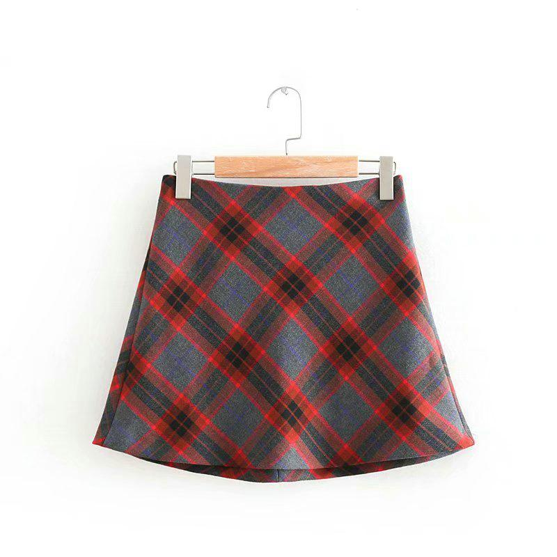967a21e98 Tangada women plaid skirts new arrival korea chic ladies vintage short skirt  female mini skirts OZ138 – Beal | Daily Deals For Moms