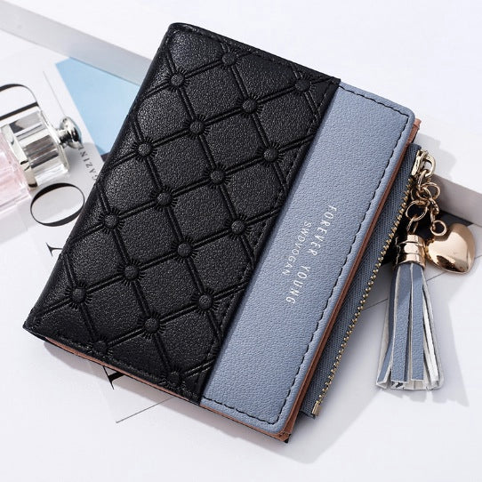 Tassels Zipper&Hasp Women Wallet For Coin Card Cash Invoice Fashion Lady Wallets Small Purse
