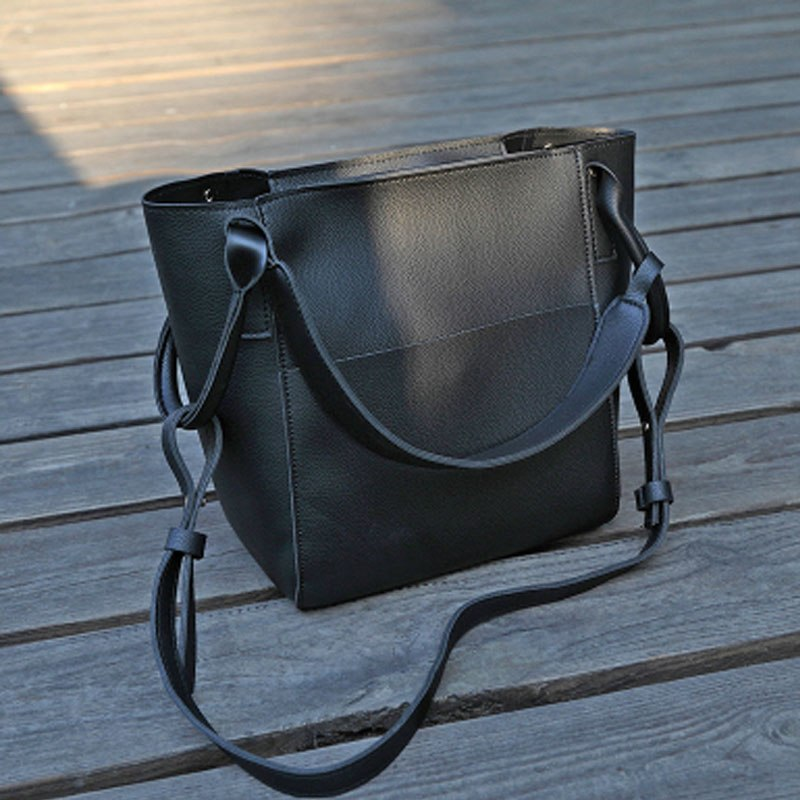 7cc75cac642 Tinkin Simple Leather Handbag for Women Female Vintage Classic ...