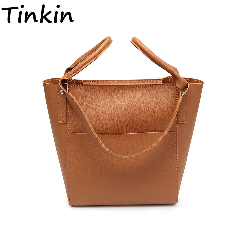 78da63fbeb9 Tinkin Simple Leather Handbag for Women Female Vintage Classic Crossbody  Bag Casual Dames Tassen Girl Fashion Shoulder Bag – Beal | Daily Deals For  Moms
