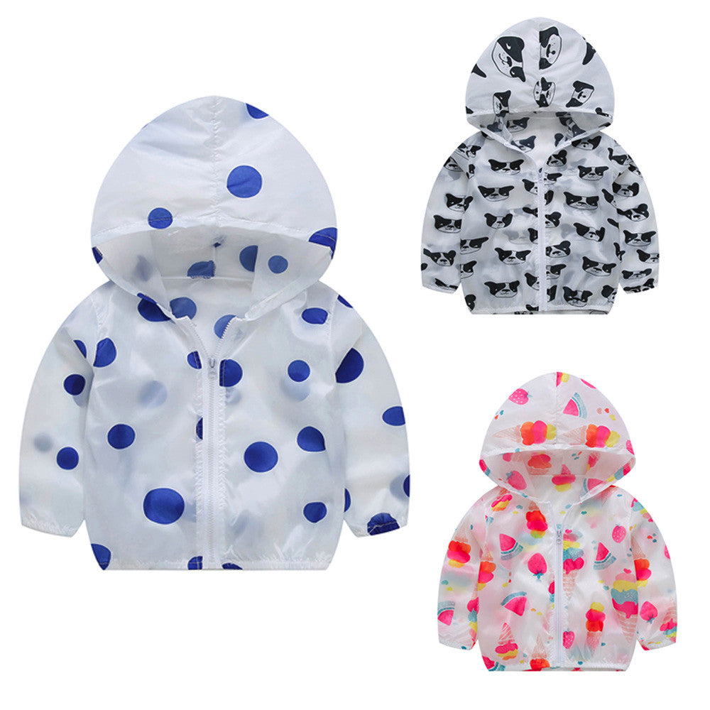 ff1eedd3d Toddler Baby Summer Sunscreen Jackets Boy Hoodie Girls Hooded Outerwea –  Beal | Daily Deals For Moms