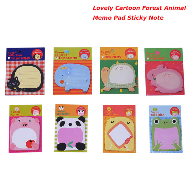 Top Selling Cute Cartoon Forest Animal Memo Pad Sticky Notes Page stickers kawaii Marker Planner Animal memo sticker