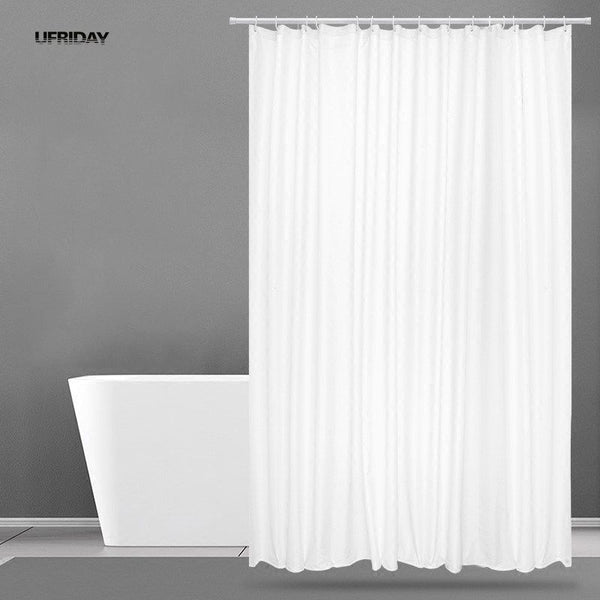 UFRIDAY New White Shower Curtain Fabric Polyester Hotel Curtain for the Bathroom Cloth Waterproof