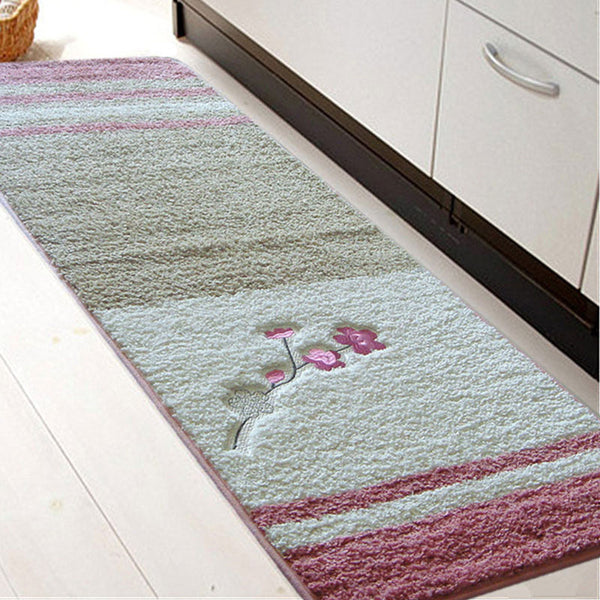 USPIRIT PVC Mesh Coral Fleece Outdoor Mats Bathroom Rugs Water Bath Accent Rugs And Mats Anti