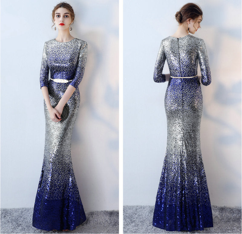f5aba76db47c Unique Multi Colors Mermaid Evening Dresses 2018 Sexy Long Evening ...