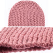 Unisex Womens Mens Knitted Ski Beanie Cap Warm Hat Scarf and Gloves Winter Set